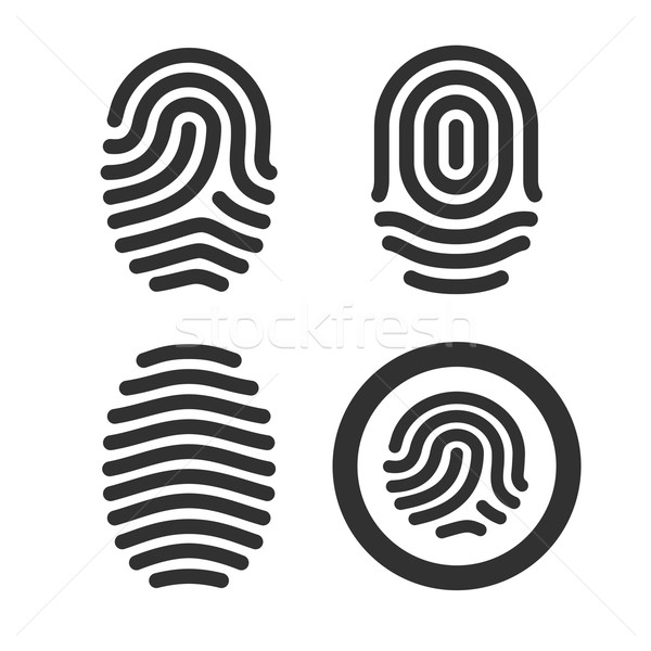 Fingerprint icons set. Stock photo © tkacchuk