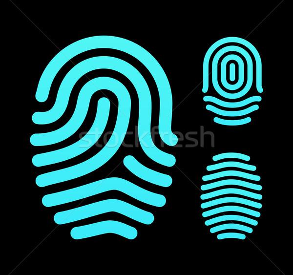 指紋 ループ アーチ デザイン にログイン 情報 ストックフォト © tkacchuk