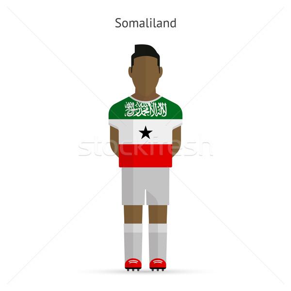 Somaliland football player. Soccer uniform. Stock photo © tkacchuk