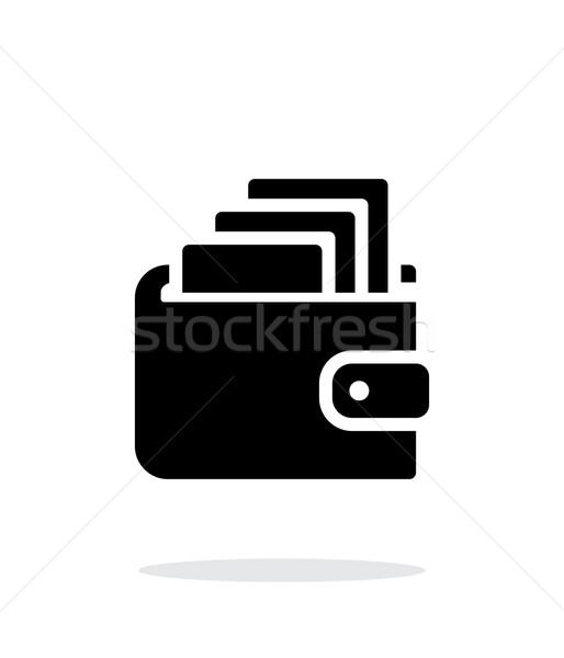Pénz pénztárca ikon fehér egyszerű terv Stock fotó © tkacchuk
