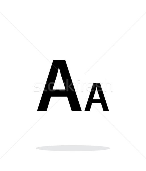 Font size simple icon on white background. Stock photo © tkacchuk