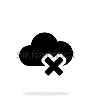 облаке простой икона белый интернет дизайна Сток-фото © tkacchuk