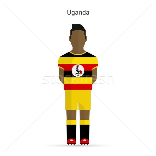 Stock fotó: Uganda · futballista · futball · egyenruha · absztrakt · fitnessz