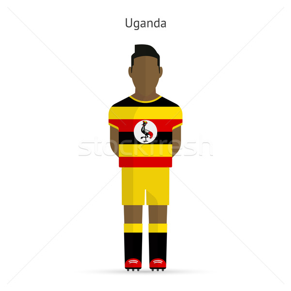 Uganda football player. Soccer uniform. Stock photo © tkacchuk