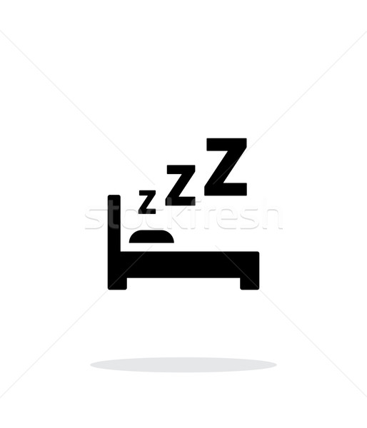 Sleeping in bed simple icon on white background. Stock photo © tkacchuk