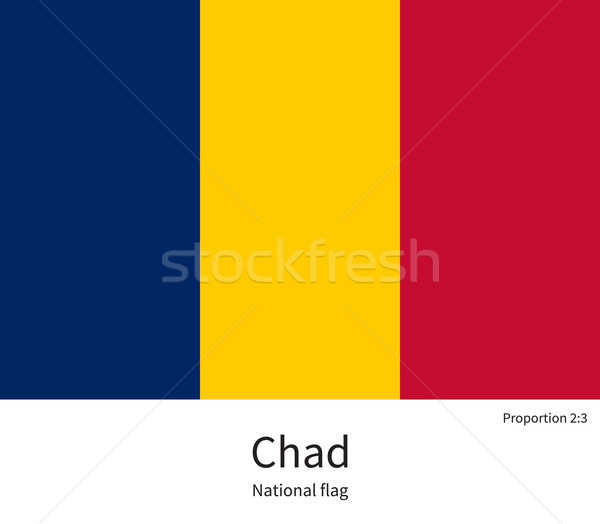 National flag of Chad with correct proportions, element, colors Stock photo © tkacchuk