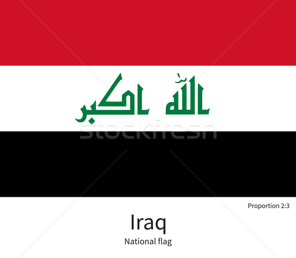 National flag of Iraq with correct proportions, element, colors Stock photo © tkacchuk