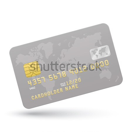 Credit card with Cameroon flag background for bank, presentations and business. Isolated on white Stock photo © tkacchuk