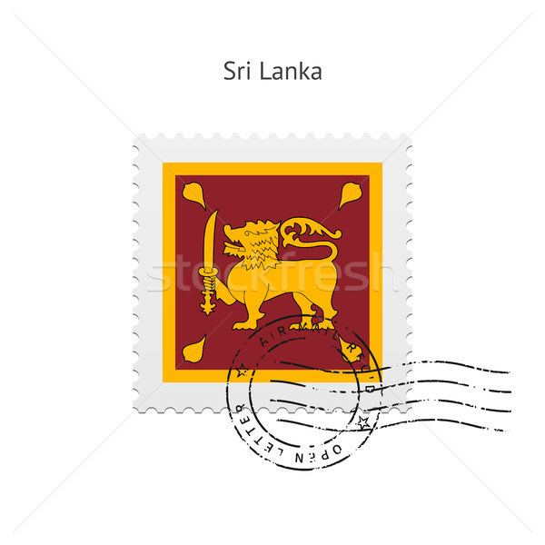 Sri Lanka Flag Postage Stamp. Stock photo © tkacchuk