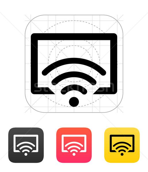 Távirányító tv ikon technológia videó irányítás Stock fotó © tkacchuk