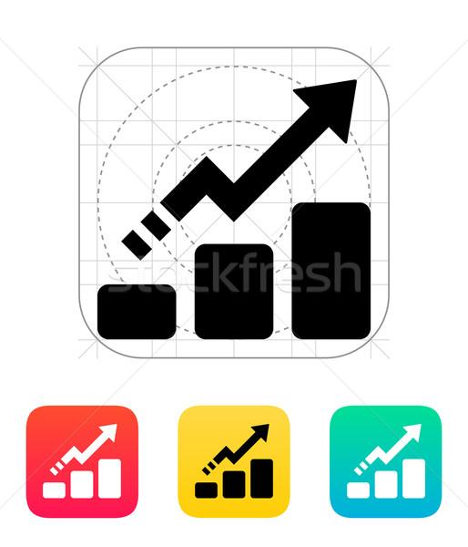 Line chart up icon. Stock photo © tkacchuk