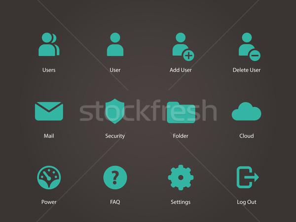 Użytkownik konto ikona działalności technologii zielone Zdjęcia stock © tkacchuk