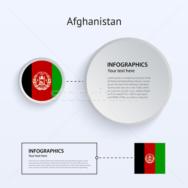 Afghanistan land ingesteld banners witte Stockfoto © tkacchuk