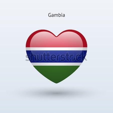 愛 ガンビア シンボル 中心 フラグ アイコン ストックフォト © tkacchuk