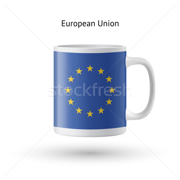 European Union flag souvenir mug on white background. Stock photo © tkacchuk