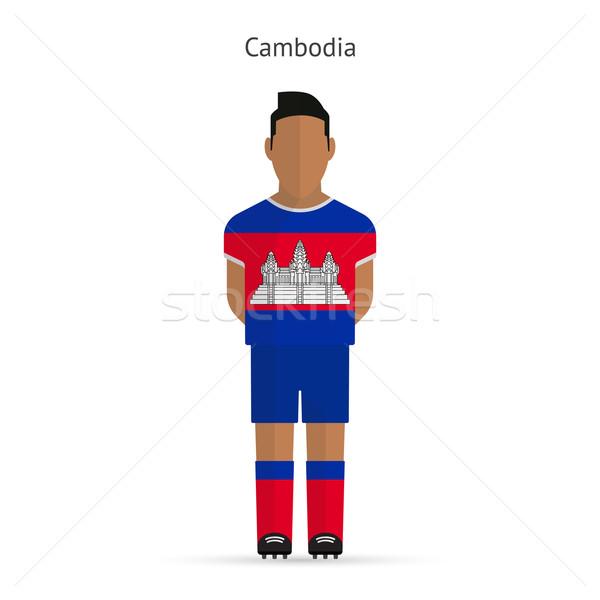 Cambodja voetballer voetbal uniform abstract fitness Stockfoto © tkacchuk