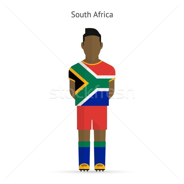 Foto stock: África · do · Sul · futebol · uniforme · abstrato · fitness