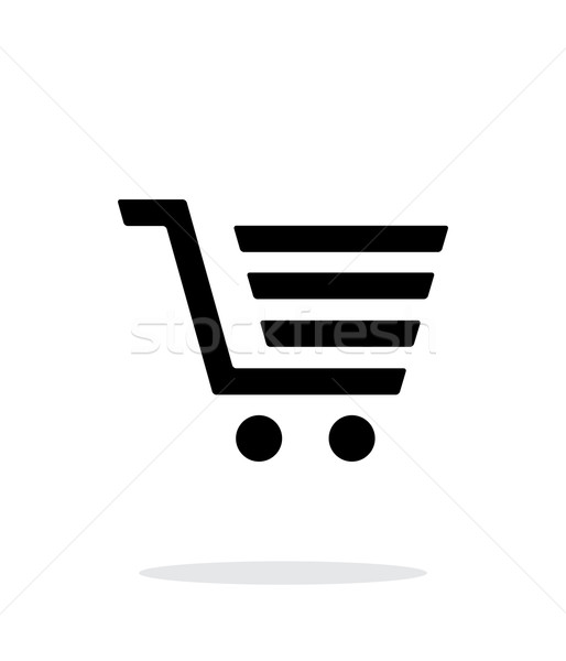 Shopping cart, trolley simple icon on white background. Stock photo © tkacchuk