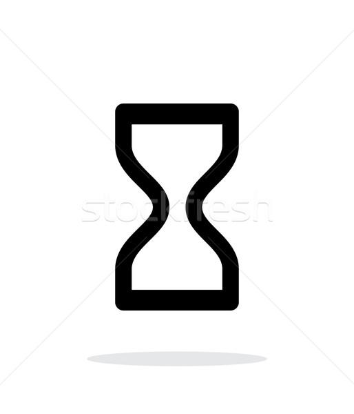 Klepsydry ikona biały projektu czasu arrow Zdjęcia stock © tkacchuk