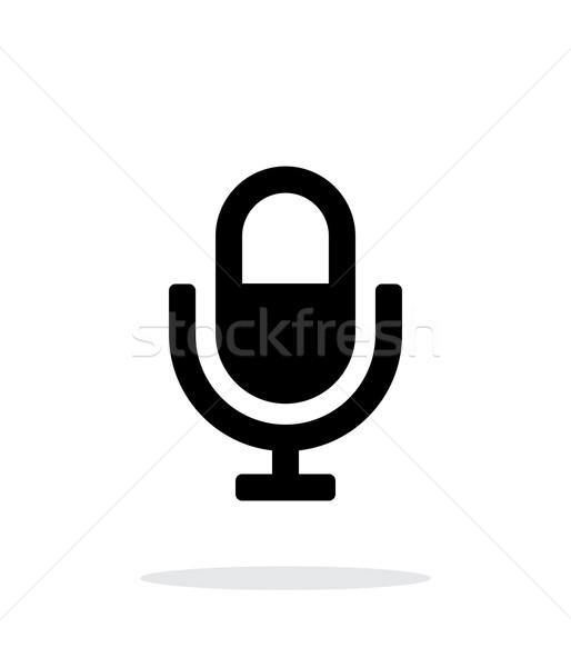 Microphone icon on white background. Stock photo © tkacchuk
