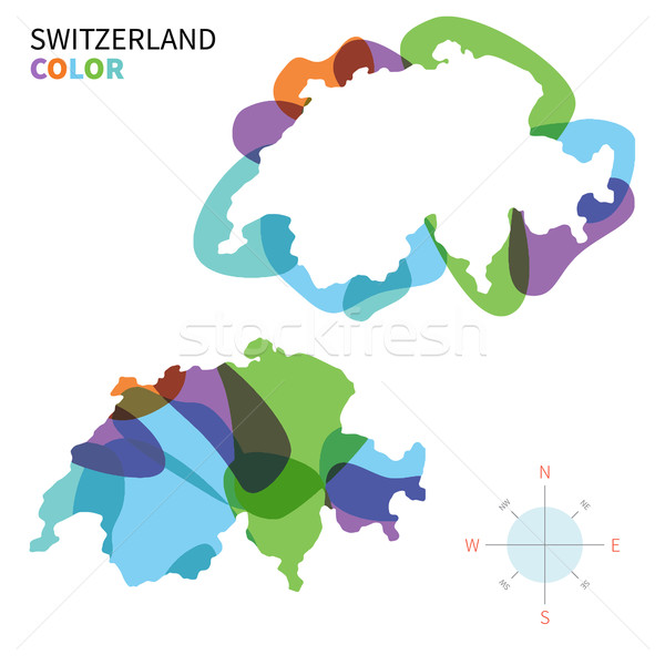 аннотация вектора цвета карта Швейцария прозрачный Сток-фото © tkacchuk