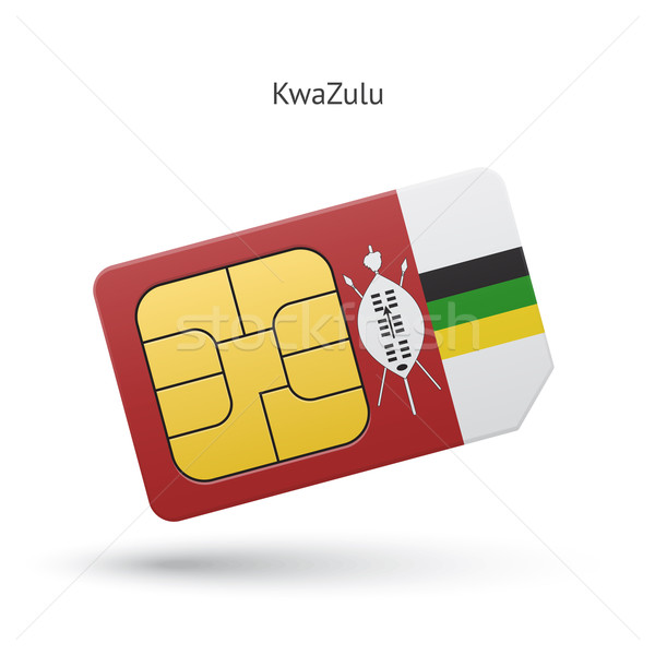 KwaZulu mobile phone sim card with flag. Stock photo © tkacchuk