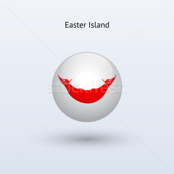 Ilha de Páscoa bandeira cinza assinar teia viajar Foto stock © tkacchuk