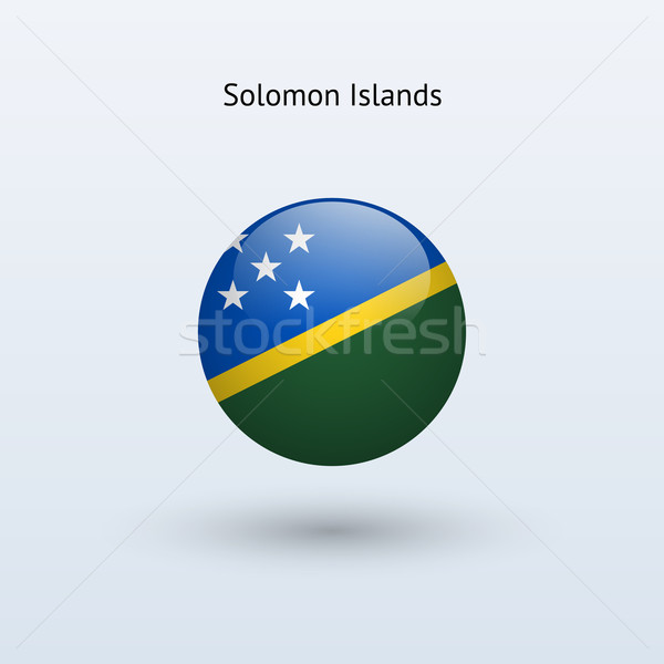 Solomon Islands round flag. Vector illustration. Stock photo © tkacchuk