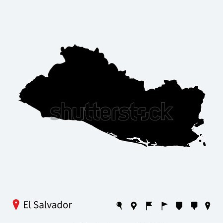 Magas részletes vektor térkép Bulgária navigáció Stock fotó © tkacchuk