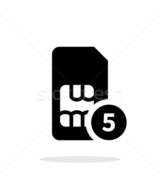 SIM card with number simple icon on white background. Stock photo © tkacchuk