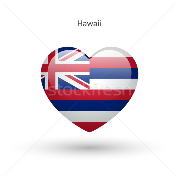 Amour Hawaii symbole coeur pavillon icône Photo stock © tkacchuk