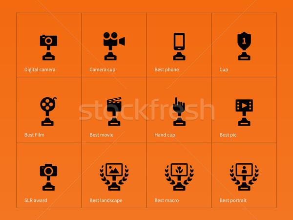 Victoria naranja teléfono película paisaje Foto stock © tkacchuk