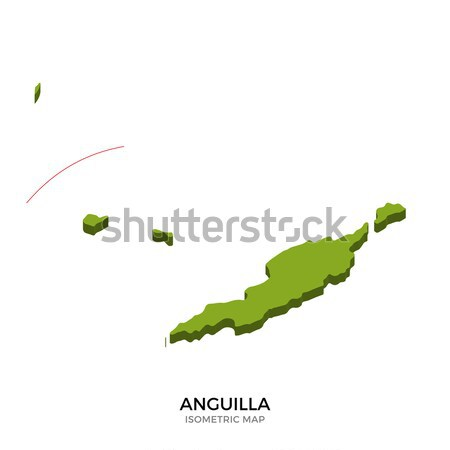 Isometric map of British Virgin Islands detailed vector illustration Stock photo © tkacchuk