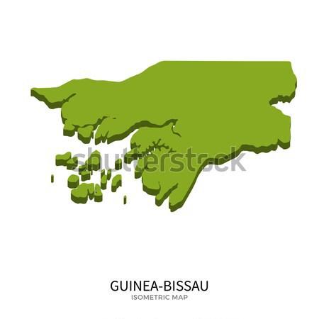 Isometric map of Guinea-Bissau detailed vector illustration Stock photo © tkacchuk