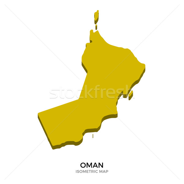 Isometric map of Oman detailed vector illustration Stock photo © tkacchuk