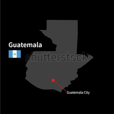 Detailed vector map of Guatemala and capital city Stock photo © tkacchuk