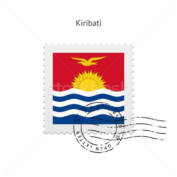 Kiribati zászló postabélyeg fehér felirat levél Stock fotó © tkacchuk