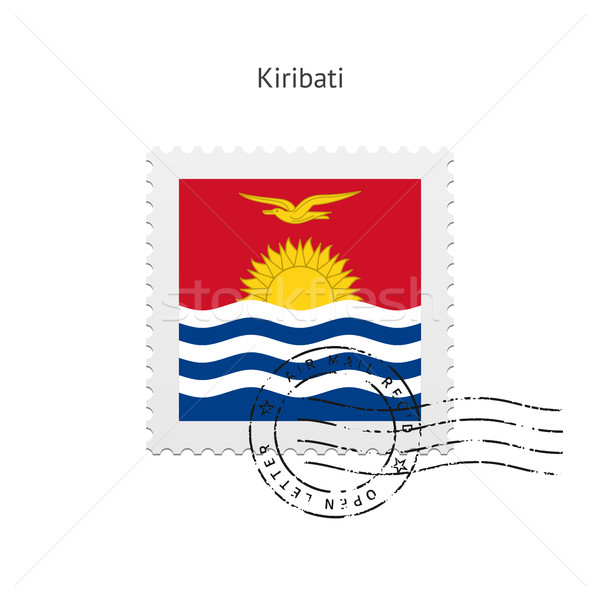 Kiribati Flag Postage Stamp. Stock photo © tkacchuk