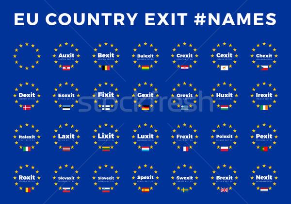 Eu ヨーロッパ 組合 国 終了する ストックフォト © tkacchuk