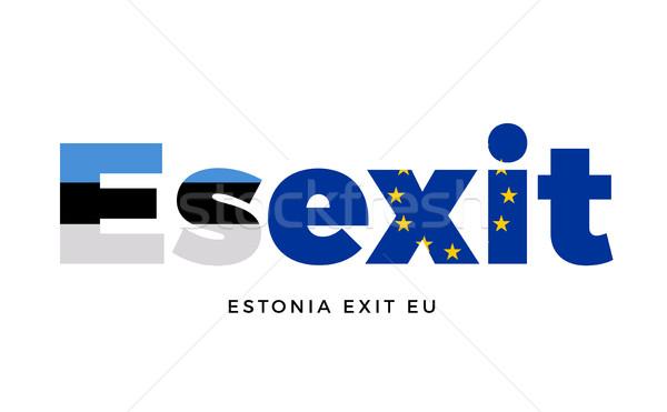 выход европейский Союза референдум вектора изолированный Сток-фото © tkacchuk