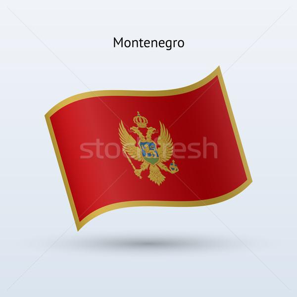 Montenegro flag waving form. Vector illustration. Stock photo © tkacchuk