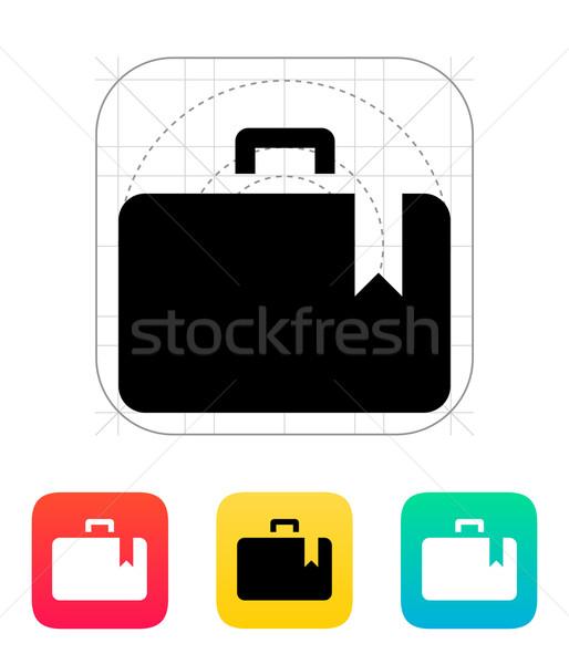 Tok könyvjelző ikon papír terv üzletember Stock fotó © tkacchuk