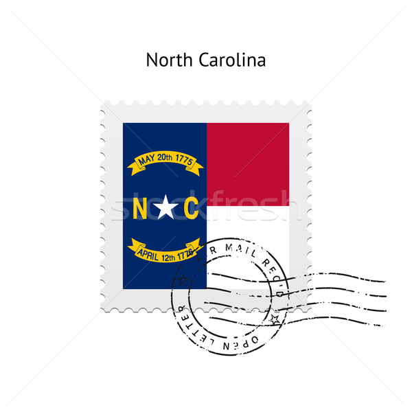 State of North Carolina flag postage stamp. Stock photo © tkacchuk