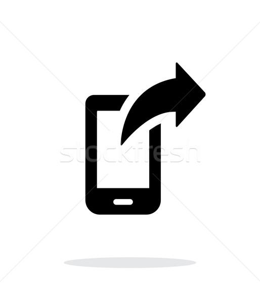 Phone posted icon on white background. Stock photo © tkacchuk