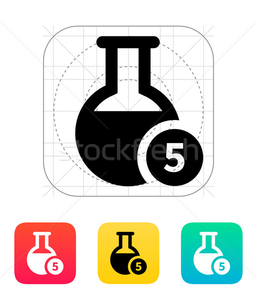 Florence flask with number icon. Vector illustration. Stock photo © tkacchuk