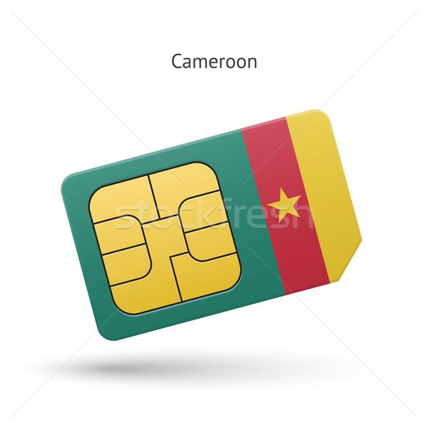 Камерун мобильного телефона карт флаг бизнеса дизайна Сток-фото © tkacchuk