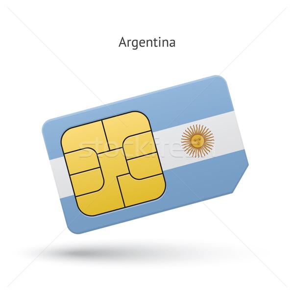Аргентина мобильного телефона карт флаг бизнеса дизайна Сток-фото © tkacchuk