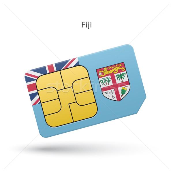 フィジー 携帯電話 カード フラグ ビジネス デザイン ストックフォト © tkacchuk