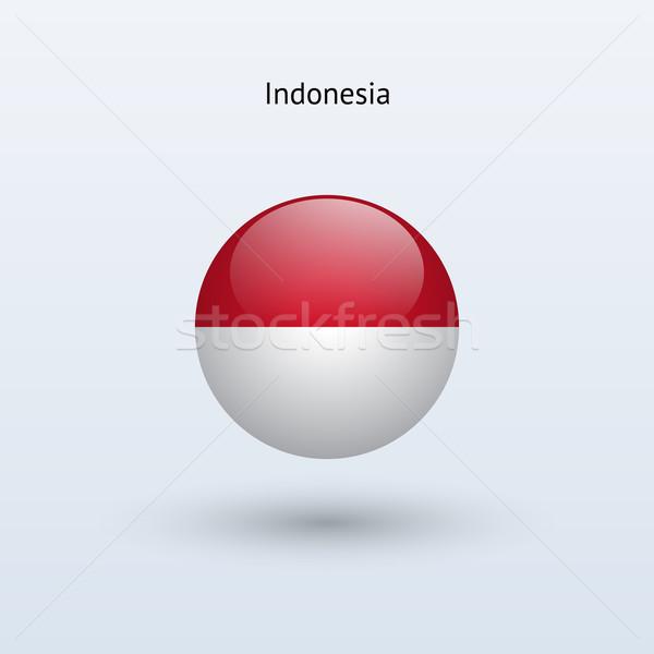 Indonezja banderą szary podpisania internetowych podróży Zdjęcia stock © tkacchuk