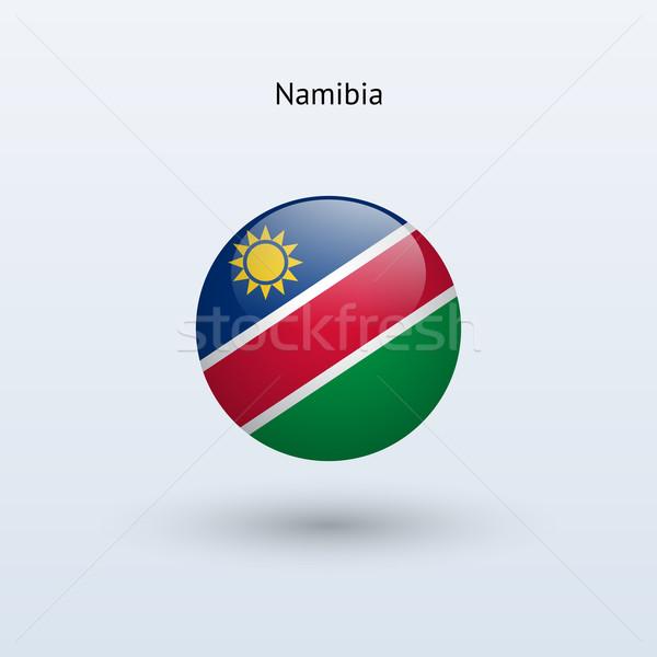 Namibia banderą szary podpisania internetowych podróży Zdjęcia stock © tkacchuk